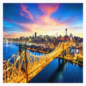 """Pintoo (h1786) - """"Manhattan with Queensboro Bridge, New York"""" - 1600 pieces puzzle"""