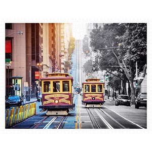 """Pintoo (h2044) - """"Cable Cars on California Street, San Francisco"""" - 1200 pieces puzzle"""