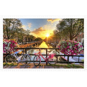 """Pintoo (h1770) - """"Beautiful Sunrise Over Amsterdam"""" - 1000 pieces puzzle"""