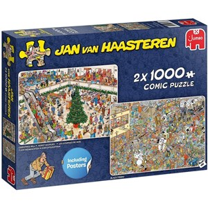"Jumbo (20033) - Jan van Haasteren: ""Holiday Shopping"" - 1000 pieces puzzle"
