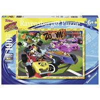 "Ravensburger (10974) - ""Mickey and the Roadster Racers"" - 100 pieces puzzle"