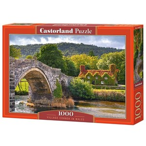 "Castorland (C-104673) - ""Village Corne in Wales"" - 1000 pieces puzzle"