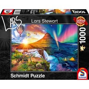 "Schmidt Spiele (59908) - Lars Stewart: ""Island, Night and Day"" - 1000 pieces puzzle"