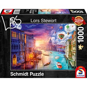 """Schmidt Spiele (59906) - Lars Stewart: """"Venice, Night and Day"""" - 1000 pieces puzzle"""