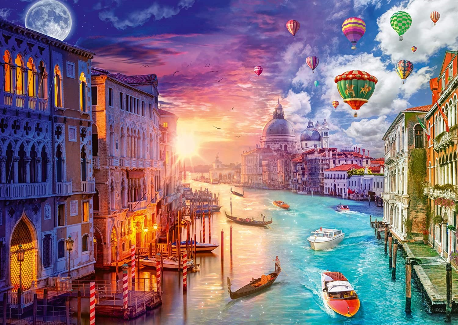 Thickened Puzzle Pieces /& High Precision Cutting Puzzles for Adults 1000 Pieces Jigsaw Puzzle Venice in Night Challenging Large Puzzle Kids Toys Wall Hanging for Home Decor