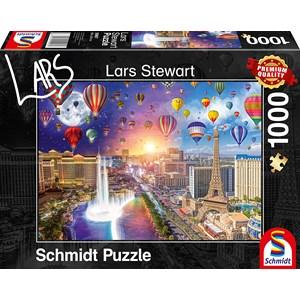 "Schmidt Spiele (59907) - Lars Stewart: ""Las Vegas, Night and Day"" - 1000 pieces puzzle"