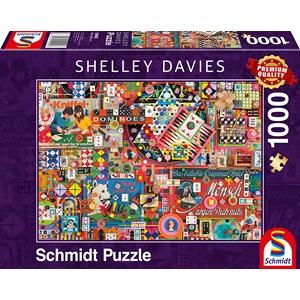 """Schmidt Spiele (59900) - Shelley Davies: """"Vintage Board Games"""" - 1000 pieces puzzle"""