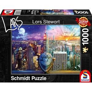 "Schmidt Spiele (59905) - Lars Stewart: ""New York, Night and Day"" - 1000 pieces puzzle"