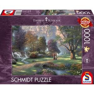 """Schmidt Spiele (59677) - Thomas Kinkade: """"Spirit, Way of Faith"""" - 1000 pieces puzzle"""