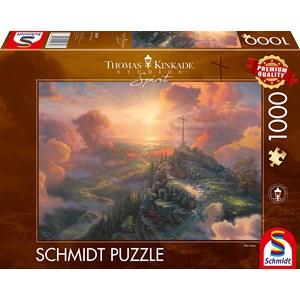 "Schmidt Spiele (59679) - Thomas Kinkade: ""Spirit, The Cross"" - 1000 pieces puzzle"