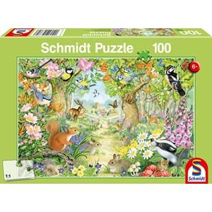"Schmidt Spiele (56370) - ""Animals of the Forest"" - 100 pieces puzzle"