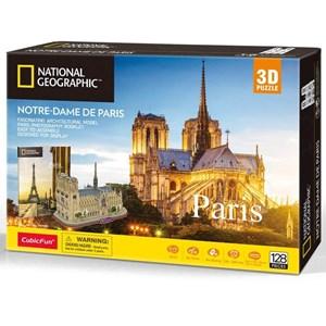 """Cubic Fun (ds0986h) - """"Notre-Dame de Paris"""" - 128 pieces puzzle"""
