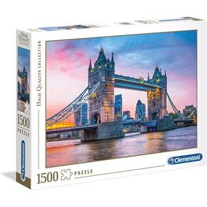 """Clementoni (31816) - """"Tower Bridge Sunset"""" - 1500 pieces puzzle"""