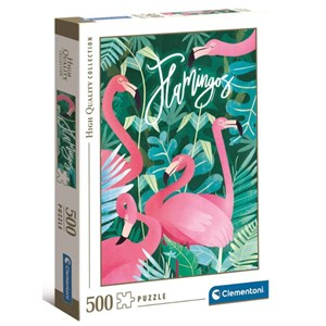 "Clementoni (35101) - ""Flamingoes"" - 500 pieces puzzle"