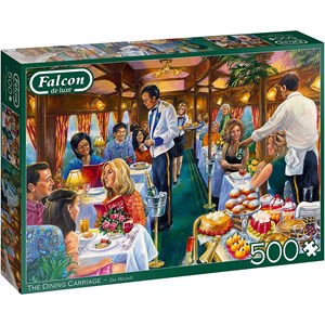 "Jumbo (11328) - Jim Mitchell: ""The Dining Carriage"" - 500 pieces puzzle"