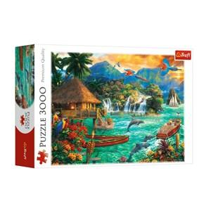"Trefl (33072) - ""Island Life"" - 3000 pieces puzzle"