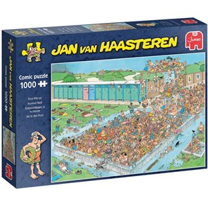 "Jumbo (20039) - Jan van Haasteren: ""Pool Pile-Up"" - 1000 pieces puzzle"