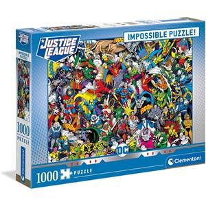 """Clementoni (39599) - """"DC Comics"""" - 1000 pieces puzzle"""