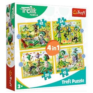 "Trefl (34358) - ""Treflik's common fun"" - 12 15 20 24 pieces puzzle"