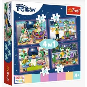 "Trefl (34370) - ""Evening Trefliks rituals, Good night"" - 35 48 54 70 pieces puzzle"