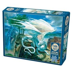 """Cobble Hill (85071) - Ciruelo: """"White Dragon"""" - 500 pieces puzzle"""