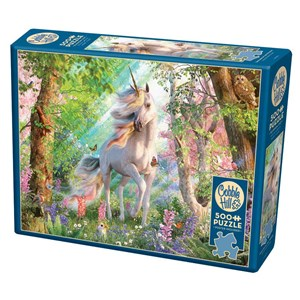 """Cobble Hill (85084) - David Penfound: """"Unicorn in the Woods"""" - 500 pieces puzzle"""