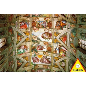 "Piatnik (539343) - Michelangelo: ""The Ceiling of the Sistine Chapel"" - 1000 pieces puzzle"