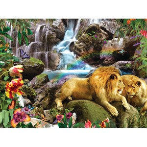 """SunsOut (48466) - Alixandra Mullins: """"Love Lion Waterfall"""" - 1000 pieces puzzle"""