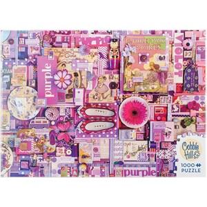 """Cobble Hill (51866) - Shelley Davies: """"Purple"""" - 1000 pieces puzzle"""