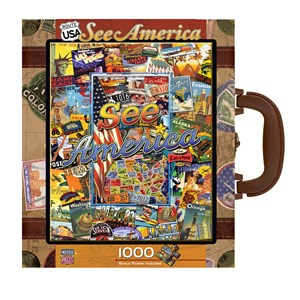 """MasterPieces (71661) - Kate Ward Thacker: """"See America"""" - 1000 pieces puzzle"""