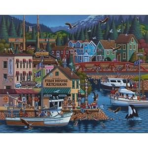 "Dowdle Folk Art (00245) - Eric Dowdle: ""Ketchikan, Alaska"" - 500 pieces puzzle"