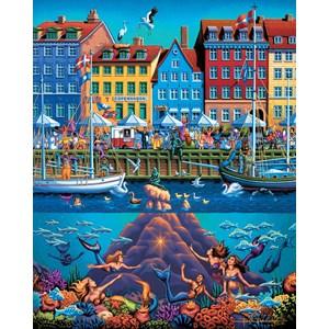 """Dowdle Folk Art (00366) - """"Copenhagen"""" - 500 pieces puzzle"""