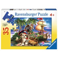 "Ravensburger (08764) - Dona Gelsinger: ""Puppy Pirate"" - 35 pieces puzzle"
