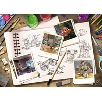 "Ravensburger (19603) - ""Sketches - Disney / Pixar"" - 1000 pieces puzzle"