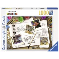 "Ravensburger (19603) - ""Sketches - Disney / Pixar"" - 1000 pieces puzzle"