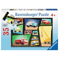 "Ravensburger (08781) - Karen Rossi: ""Tires & Engines"" - 35 pieces puzzle"