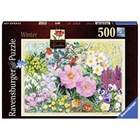 "Ravensburger (14754) - ""The Cottage Garden No 4, Winter"" - 500 pieces puzzle"