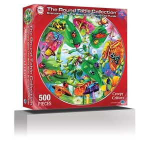 """A Broader View (372) - Michael Searle: """"Creepy Critters (Round Table Puzzle)"""" - 500 pieces puzzle"""