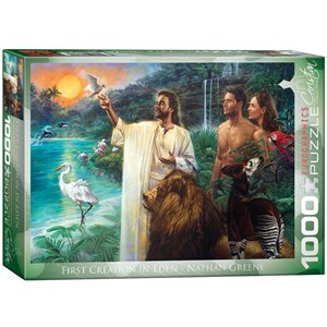 """Eurographics (6000-0356) - Nathan Greene: """"First Creation in Eden"""" - 1000 pieces puzzle"""