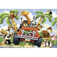 "Ravensburger (05401) - Howard Robinson: ""4-Wheeling"" - 24 pieces puzzle"