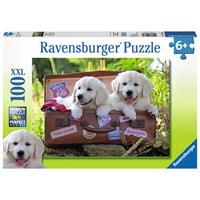 "Ravensburger (10538) - ""Traveling Pups"" - 100 pieces puzzle"