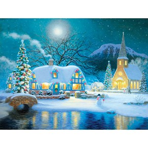 """SunsOut (65289) - Richard Burns: """"Country Snowfall"""" - 300 pieces puzzle"""