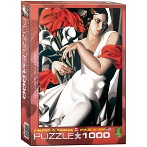 "Eurographics (6000-1205) - Tamara de Lempicka: ""Portrait of Ira"" - 1000 pieces puzzle"