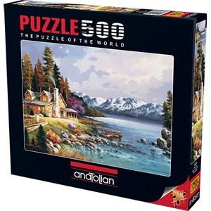 "Anatolian (3534) - James Lee: ""Mountain Cabin"" - 500 pieces puzzle"