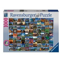 "Ravensburger (19371) - ""99 Beautiful Places on Earth"" - 1000 pieces puzzle"