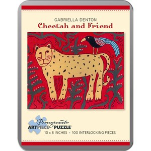 """Pomegranate (AA797) - Tom Thomson: """"Cheetah and Friend"""" - 100 pieces puzzle"""