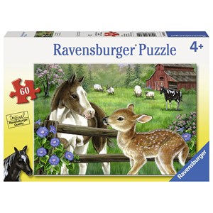 "Ravensburger (09625) - Jane Maday: ""New Neighbors"" - 60 pieces puzzle"