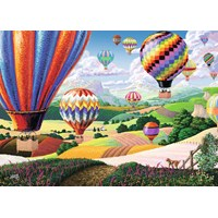 "Ravensburger (14871) - Joseph Burgess: ""Brilliant Balloons"" - 500 pieces puzzle"