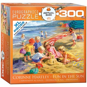 """Eurographics (8300-0449) - Corinne Hartley: """"Fun in the Sun"""" - 300 pieces puzzle"""