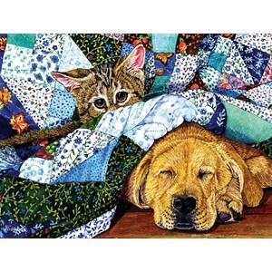 "SunsOut (52387) - Jeanette Fournier: ""Quilted Comfort"" - 500 pieces puzzle"